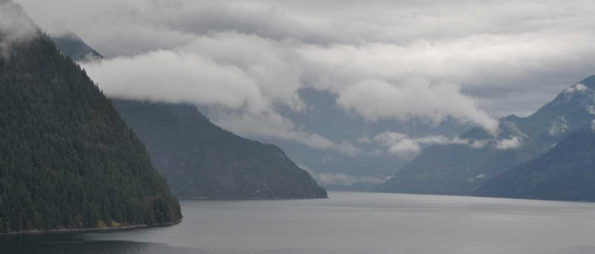 Mountains, sea, and clouds...